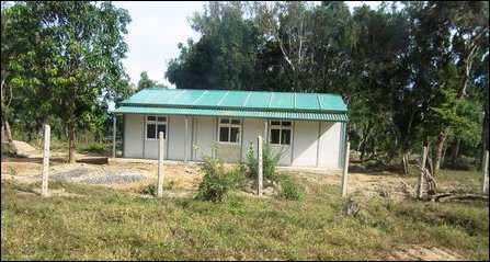 House constructed for SLA settlers in Vanni