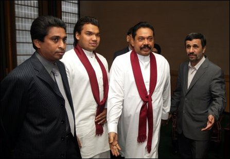 Rajapaksa also met Tuesday his Iranian counterpart, a key ally of Colombo in its war against the LTT