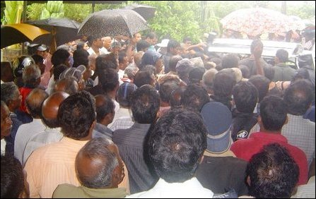 Funeral of late Sivalingam