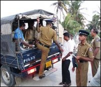 Indian fishermen in Sri Lankan Police custody