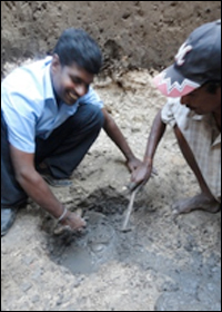 Excavation at Jaffna Fort