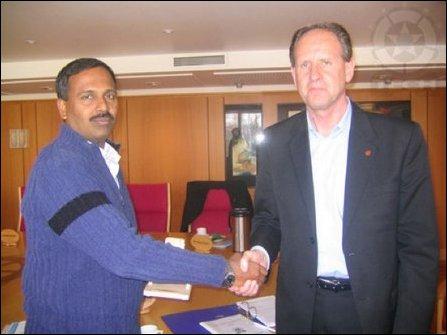 Suhunan meeting the mayor of Lørenskog