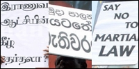 Demonstration in Colombo against SLA attack on TNA in Jaffna