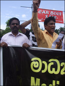 Media organisations protest in Colombo