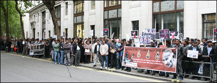 Diaspora Tamils in UK protest