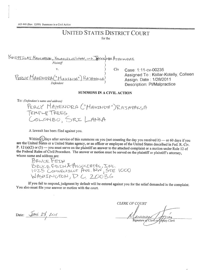 Read book summons notice about petition to washington courts PDF – Civil Summons Form