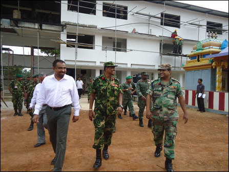 Maldivian Defence Minister visits occupying SLA in Jaffna