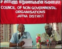 Press meeting by CVK Sivagnanam of Council of NGOs in Jaffna District