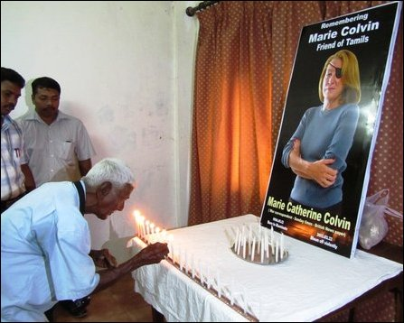 Memorial event of Marie Colvin in Jaffna
