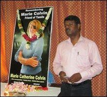 Memorial event of Marie Colvin in Jaffna