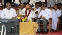 Rajapaksa at Jaffna Central College