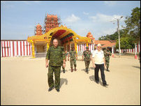 Russian, Iranian and Bangladeshi military officials visit Jaffna