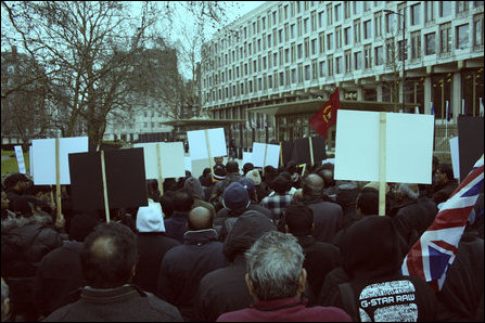 Demonstration in front of US Embassy in UK