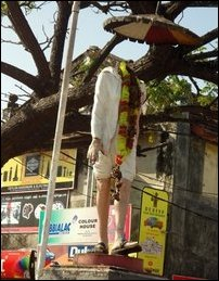 Statue destroyed in Batticaloa