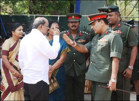 Mr V Mahalingam quarrels with SLA Jaffna Commander Maj Gen (retd) Hathurusinghe