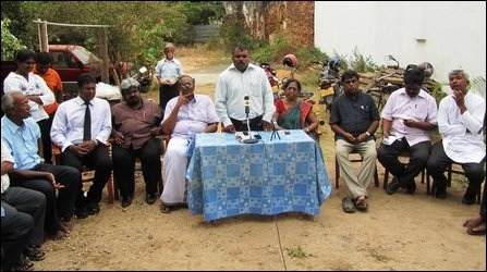 Protest against land grab in Jaffna