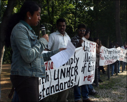 German protest in front of Indian Embassy