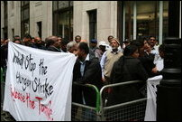 Protest in UK in front of Indian High Commission
