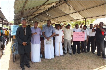 Protest in Mannaar against land grab