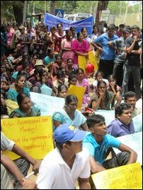 Protest land grab in Jaffna