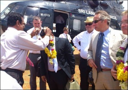 British conservatives arriving in Jaffna