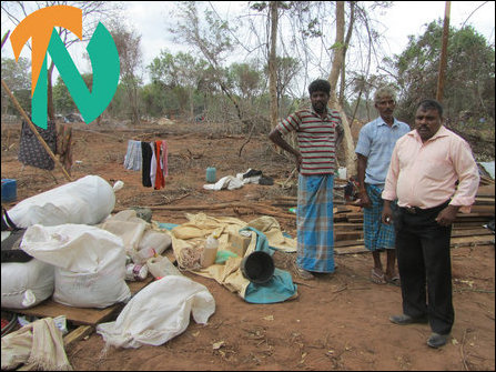 Uprooted Tamils dumped at Choori-puram in PTK