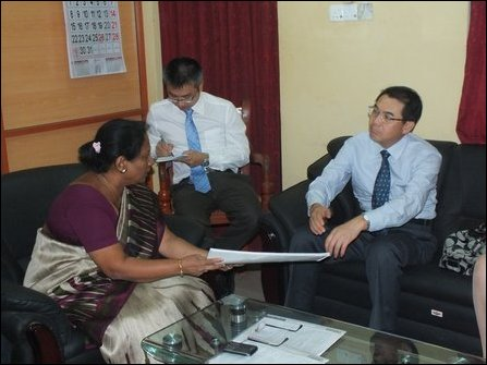 Chinese envoy visits Jaffna