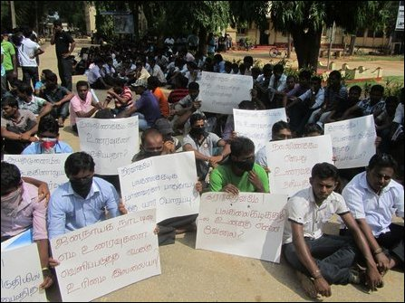 SL police, military attack university students