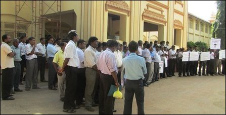 University teachers protest