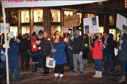 Candlelight vigil held in Bergen, Norway