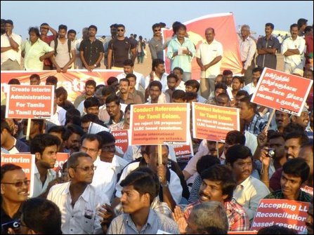 Protest in Marina Beach