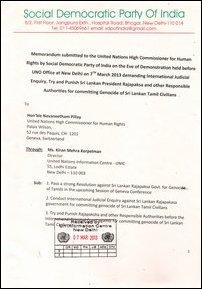 Memorandum by SDPI