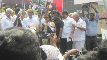 Protest against SL Deputy HC