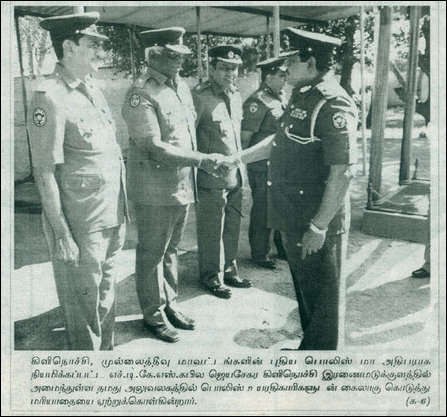 Kapila Jeyasekera (right) at his office near Iranaimadu tank (Courtesy: Uthayan 20th Feb 2013)