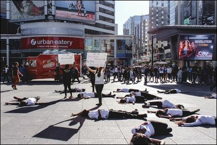 Flash mob by TYO in Toronto, Canada
