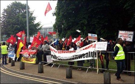 Protest in UK against Sri Lankan cricket