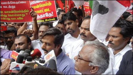 Protest in Chennai against CHOGM