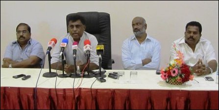 Press conference by EPRLF, TELO and PLOTE in Jaffna