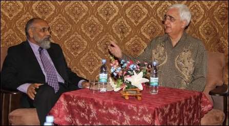 Salman Khurshid and CV Wigneswaran