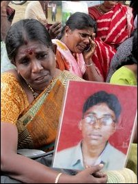 Missing persons kith and kin in Jaffna
