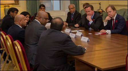 Brtish PM meets Tamil groups in UK