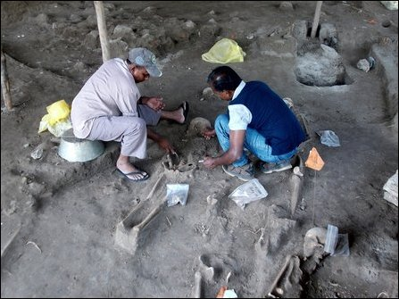 Forensic excavation at Maanthai mass grave