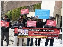 Protest against UN