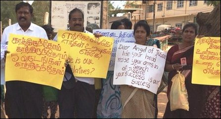 Protest in Mullaiththeevu