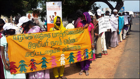 Protest in Jaffna against child rape by SL military