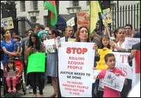 Tamil Nadu and Eezham Tamil activists expressing solidarity with Kurds in UK