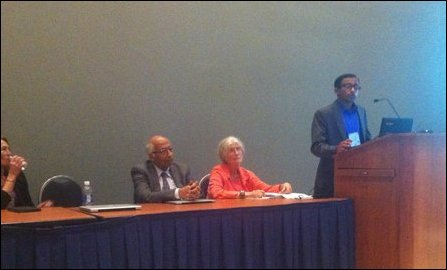 Nirmanusan Balasundaram addresses the APA in Washington DC