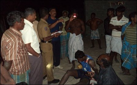 SL Navy sailor captured by the villagers in Vettilaik-kea'ni