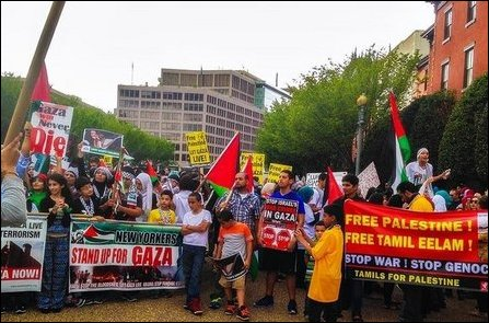 Protest organised by May 17 at Washington DC, USA