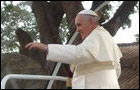 Pope Francis on  pilgrimage to Madu